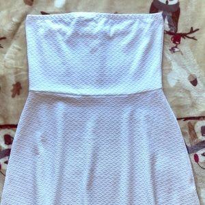 White strapless mini